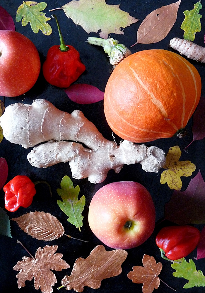 Kunterbuntes Herbst Chutney mit Kürbis ohne Zucker