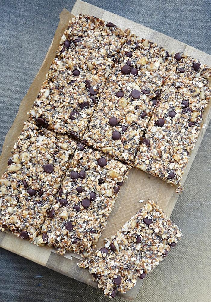 No Bake Granola Bars - post Workout Rezepte