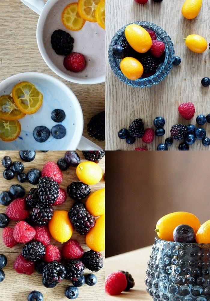 happy food in bunten farben gegen den winterblues