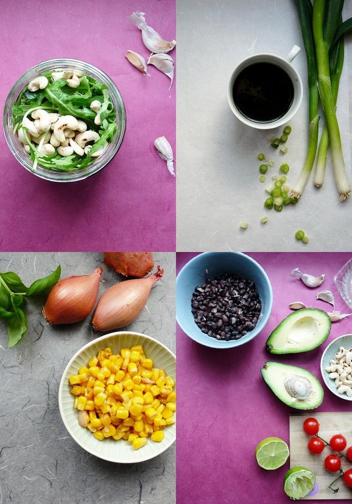 gesunde Rezepte für Salat im Glas