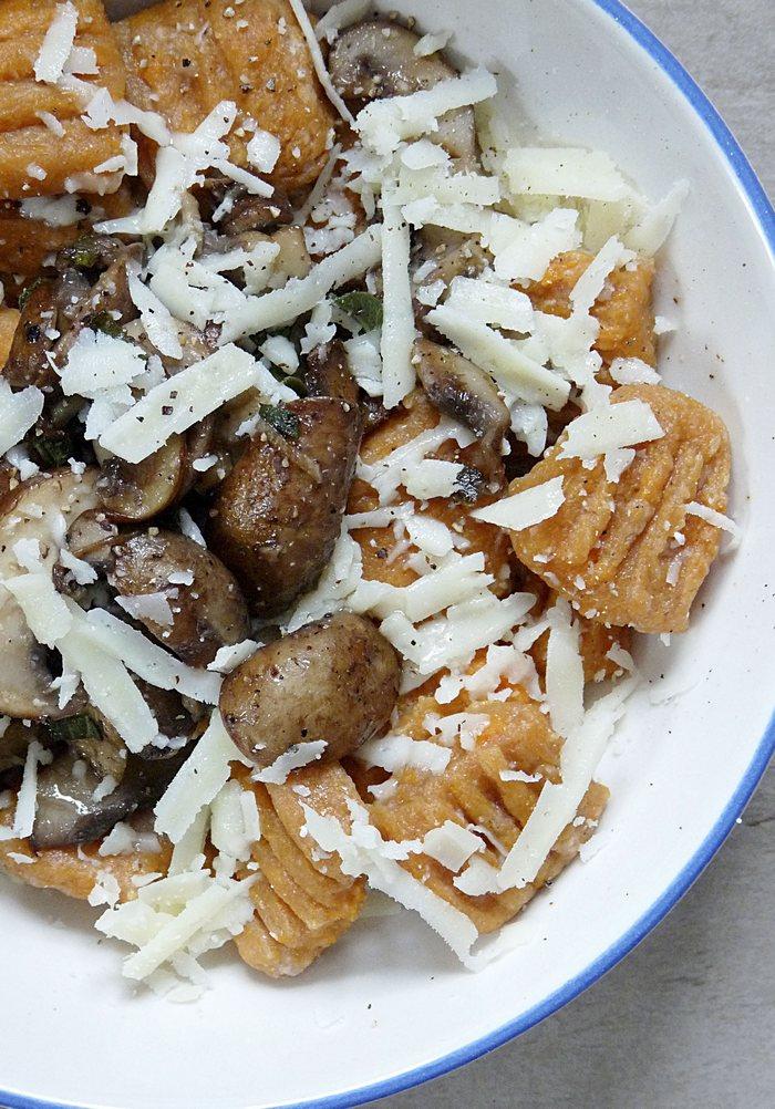 Rezept für Süßkartoffelgnocchi