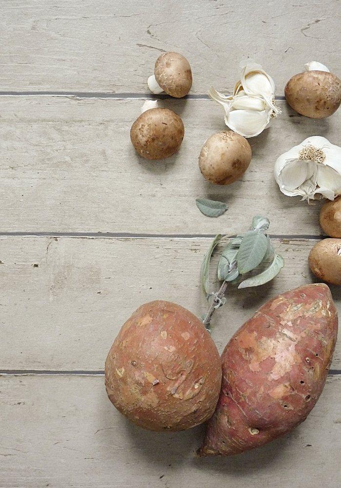 Zutaten für Süßkartoffelgnocchi
