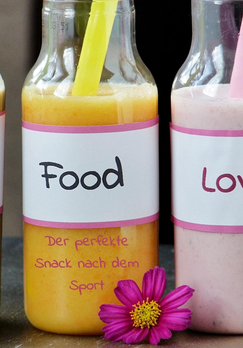 Post Training Snacks - Leckere Smoothies mit Kirschen Ingwer Mango