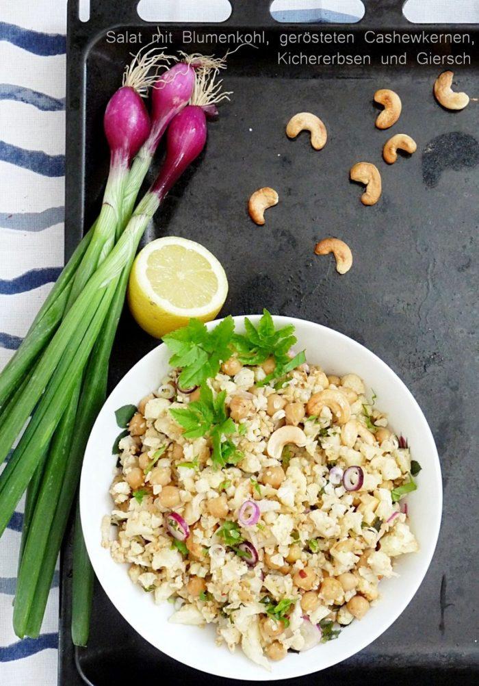 Salat mit Blumenkohl und Giersch