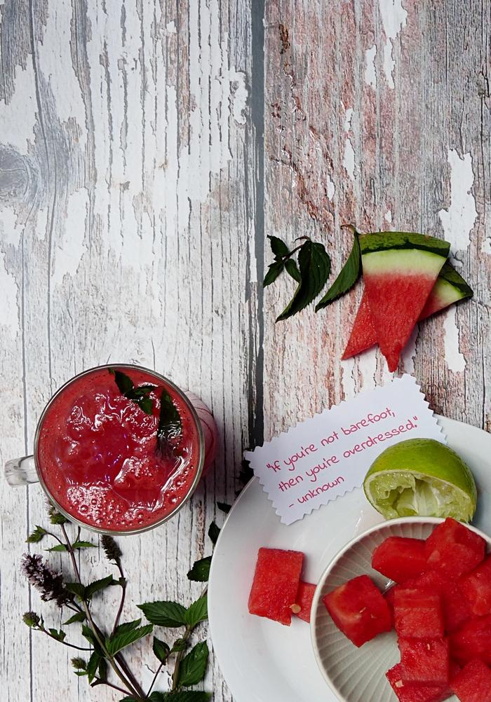 Agua Fresca mit Wassermelone