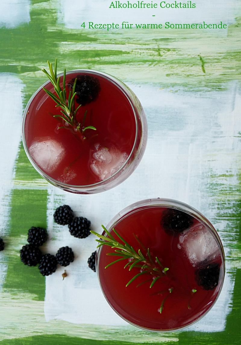 Cocktails alkoholfrei mit Rosmarin